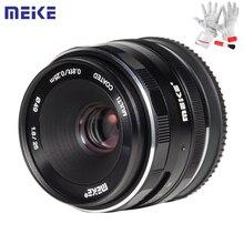 Meike 25 مللي متر F1.8 دليل زاوية واسعة رئيس عدسة APS C عدسة الإطار لسوني E جبل/ل فوجي/M4/3 كاميرا A6500 A7 A7II A7R X T30