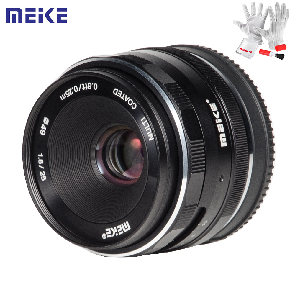 Meike 25mm F1.8 Manual Wide Angle Prime Lens APS-C Frame Lens for Sony E Mount / for Fuji / M4/3 Camera A6500 A7 A7II A7R X-T1 2