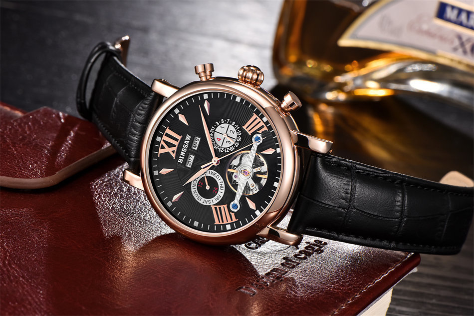 HTB1whI4fJzJ8KJjSspkq6zF7VXas BINSSAW  Men Tourbillon Automatic Mechanical Watch Luxury Fashion Casual Brand  Leather Man Week Gold  Watches relogio masculino
