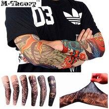M-theory 3D Arm Tattoos Sleeve Elastic Stockings Leggings Temporary Body Makeup 3d Tatuagem Henna Flash Tatoos Tatto Arts