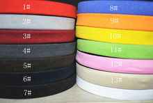 "3/4 ""(20mm) 10 미터 꼰 탄성 cord.14 종류의 색상 옵션"