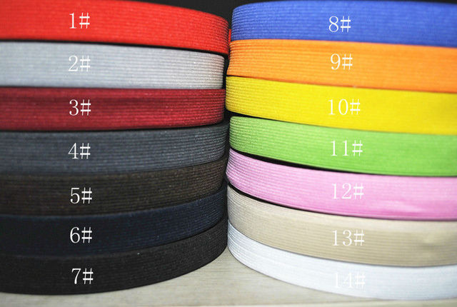 3/4(20mm)  10meters  Braided Elastic Cord.14 kinds of color optional