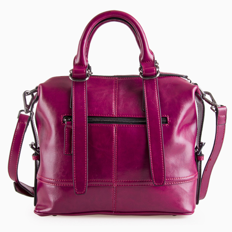 ФОТО 2016 new women handbag genuine leather shoulder bag cowhide ladies black purple casual shopping bag large capacity tote
