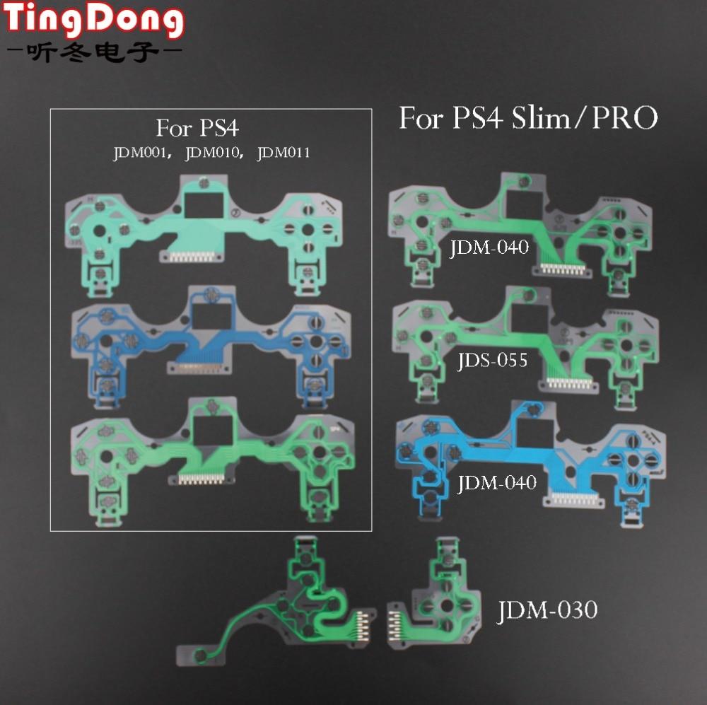 For PS4 Slim pro controller conductive film flex cable high quality for ps2 PS3 ps4  joystick repair part JDS-001 JDM-030 040 55