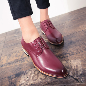 Image 2 - BIMUDUIYU  Cowhide Leather Dress Shoes For Men Fashion Oxford Formal Shoes Spring Pointed Toe Wedding Business Casual Shoe