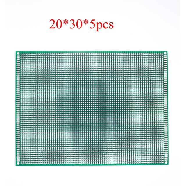 5pcs/lot 20*30 Double Side Copper Prototype PCB Universal Board Experimental Development Plate For Arduino