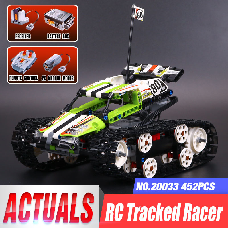 Lepin 20033 Technic The RC Track Remote-Control Race Car Set Building Blocks Electric Motor Power Function Model Legoing 42065 pwtr a181d auto car power window motor close control module w one touch function gray 12v