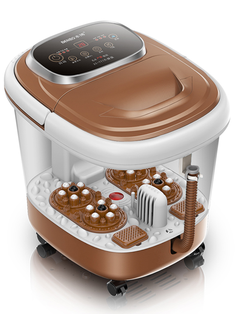 Fully-automatic foot massager electric bath thermostated pediluvium device bucket feet massage spa pedicure machine