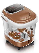 Fully-automatic foot massager electric foot bath thermostated pediluvium device bucket feet massage spa pedicure machine detox foot bath arrays round stainless steel array aqua spa foot massage relief