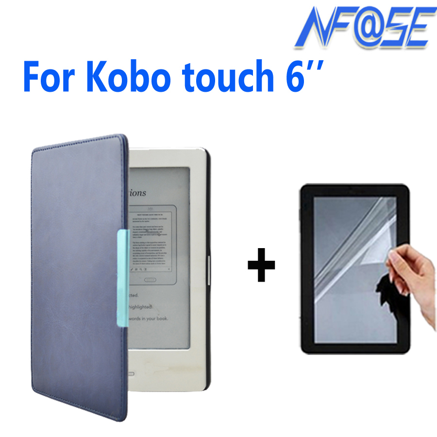 leather cover case funda for Kobo touch N905 A B C ereader 6