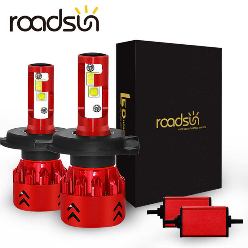 roadsun H7 H4 Car LED Headlight Bulbs H11 Led H1 9005 HB3 9006 HB4 X70 Chips 100W 15000LM Headlamp Fog Lights 6000K