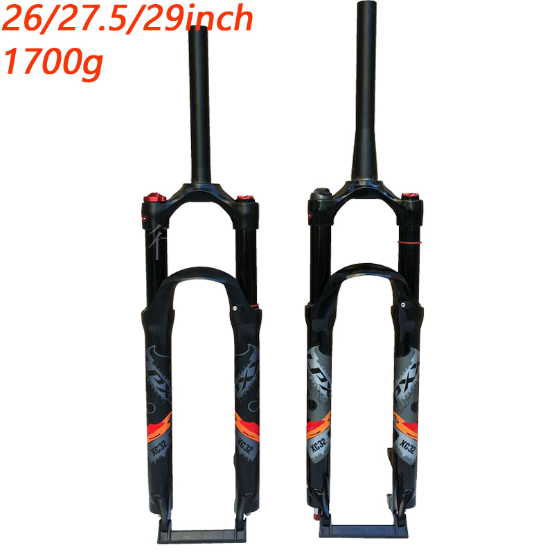 Mountain bicycle Fork 26in 27.5in 29 inch MTB bikes suspension fork air tapered fork remote and manual control HL RL