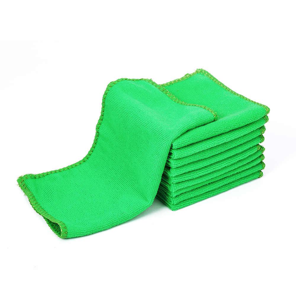 سوبر سيارة ماصة غسل منشفة سيارة من الألياف الصغيرة تنظيف تجفيف القماش حجم كبير 25*25 سنتيمتر هيمينغ سيارة الرعاية القماش بالتفصيل منشفة