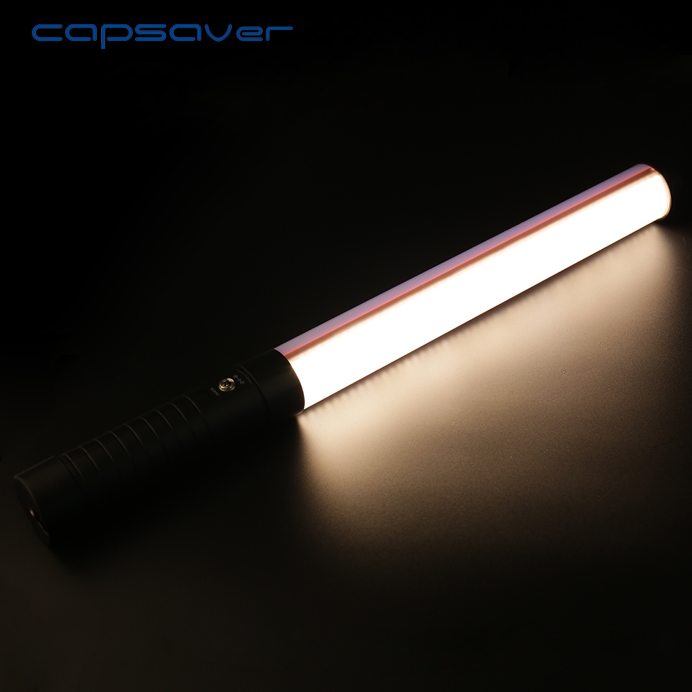 capsaver STL-900 Portable Handheld Tube LED Video Light Dimmable Bi-color 3200K/5600K Ph ...