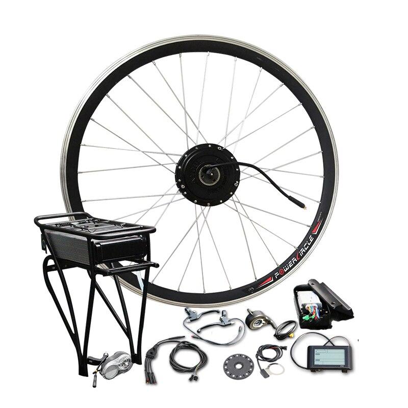 36V 250W/350W/500W Electric Bike Conversion Kit 36V 10A/12A Lithium Battery Electric Bike Kit MTB Ebike Kit Hub Motor E Bike