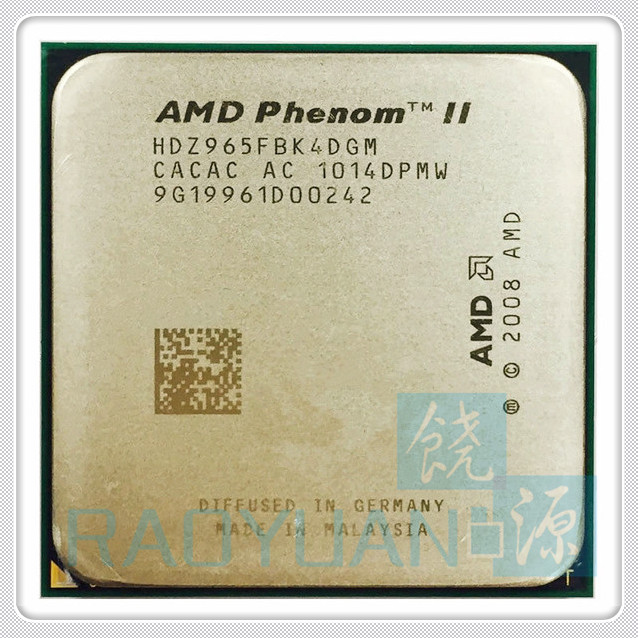 AMD Phenom X4 965 3.4GHz Quad-Core CPU Processor X4 965 HDZ965FBK4DGM 125W Socket AM3 938pin