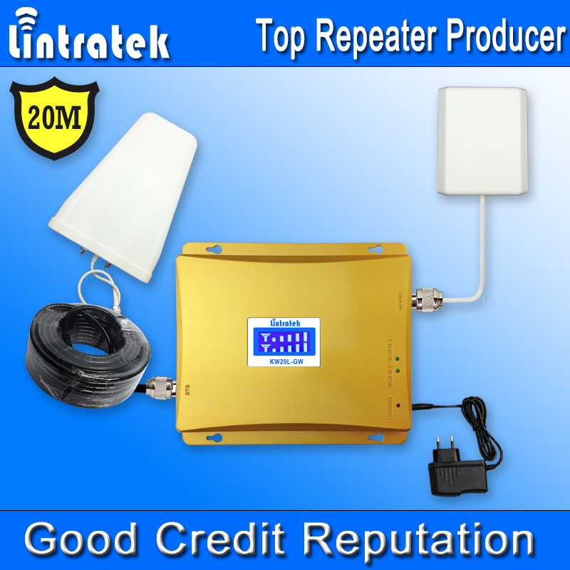 20 Meters GSM 3G Dual Band Cell Phone Booster GSM 900MHz 2100MHz UMTS Mobile Signal Repeater