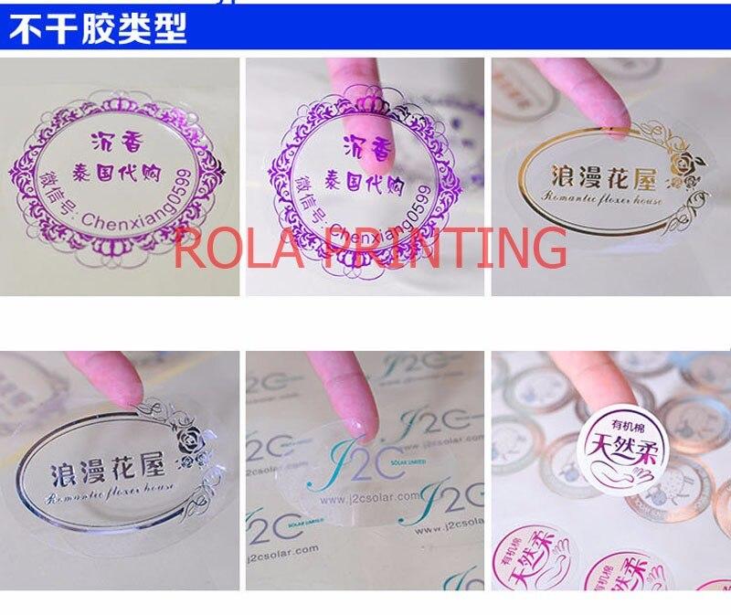 Adesiva para trás lado prata PET etiqueta resistente ao calor