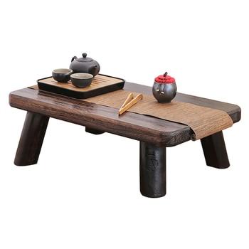 Pequeña mesa de té japonesa rectangular tradicional Paulownia madera ...