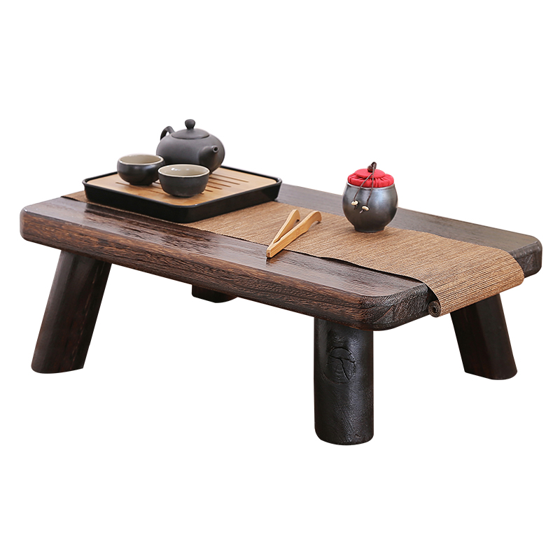 Small Japanese Tea Table Traditional Rectangle Paulownia Wood Asian Antique Furniture Living Room Low Floor Table For Dining