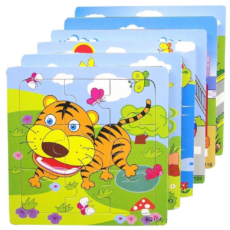 Деревянные головоломки Игрушечные лошадки детские развивающие игрушки обучение детей подарок мультфильм животных разведки головоломки о...