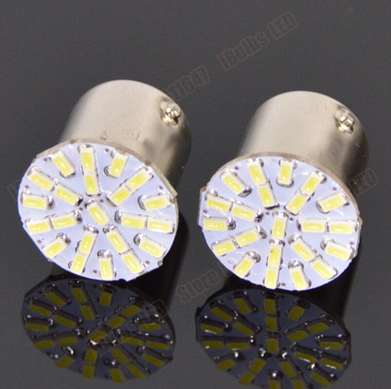 200pcs BA15S P21W 1156 22 LED SMD Car Auto Tail Side Indicator Lights Parking Lamp Bulb