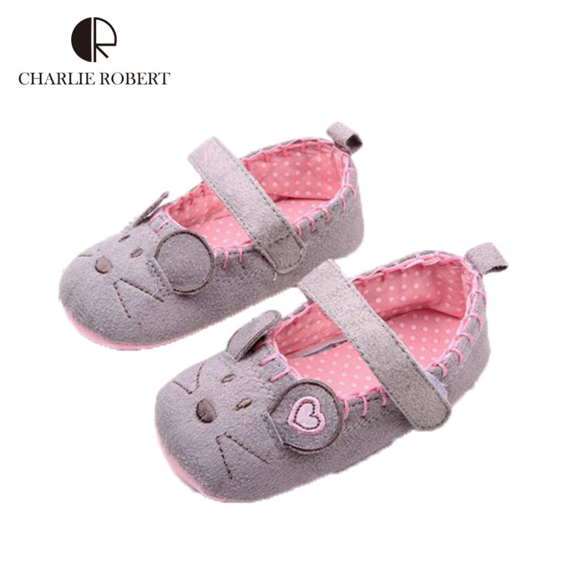 New Designer Baby Shoes Cartoon Mouse First Walkers Infant Soft Sole Summer Girls Shoes Baby Shoes Sneakers Baby Moccasins HK690