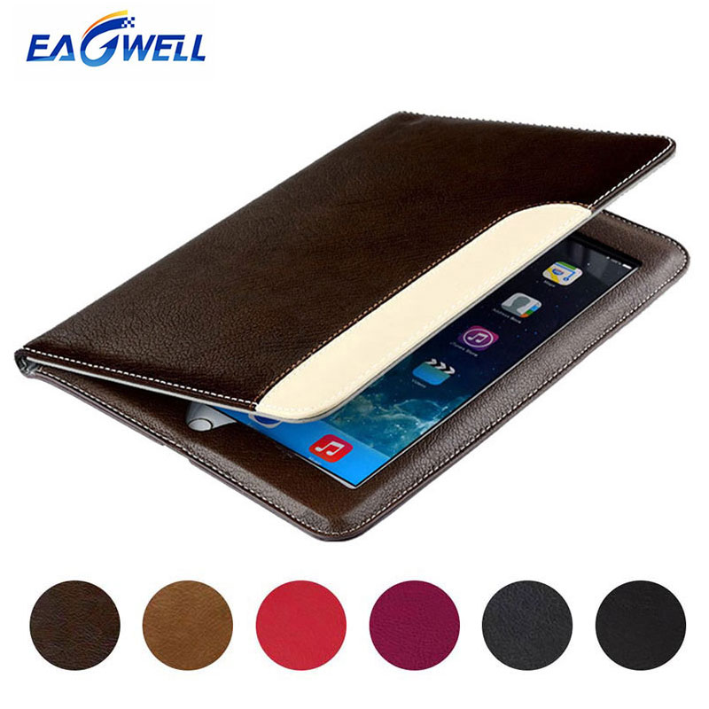 Case for Apple iPad Air 2 Air 1 PU Leather Business Briefcase Tablet Flip Stand Smart Cover for iPad 5 6 Fundas Auto Sleep Wake
