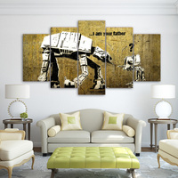 Modern Frames For Painting Modern Decor 5 Panel Movie Canvas The Robot Art Prints Wall Picture