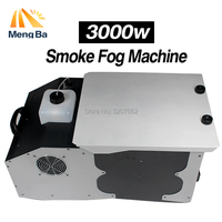 MengBa 3000W Low Lying Ground Smoke Fog Machine Remote Control