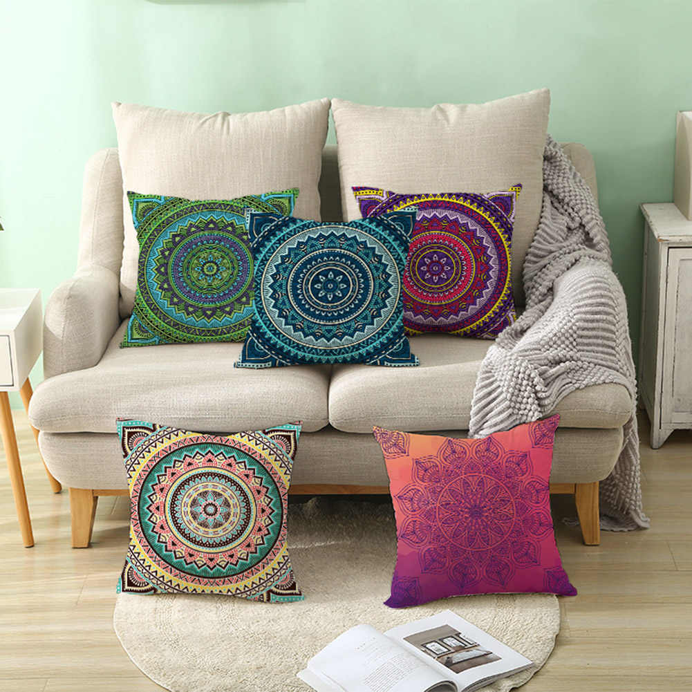 Mandala arabeska kwiat Yin Yang poszewka na poduszkę poszewka krzesło sofa Decor