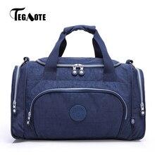 TEGAOTE الرجال حقيبة سفر سعة كبيرة الذكور الأمتعة حقائب قماش النايلون متعددة الوظائف المحمولة عطلة نهاية الأسبوع حمل السفر احدث اسلوب