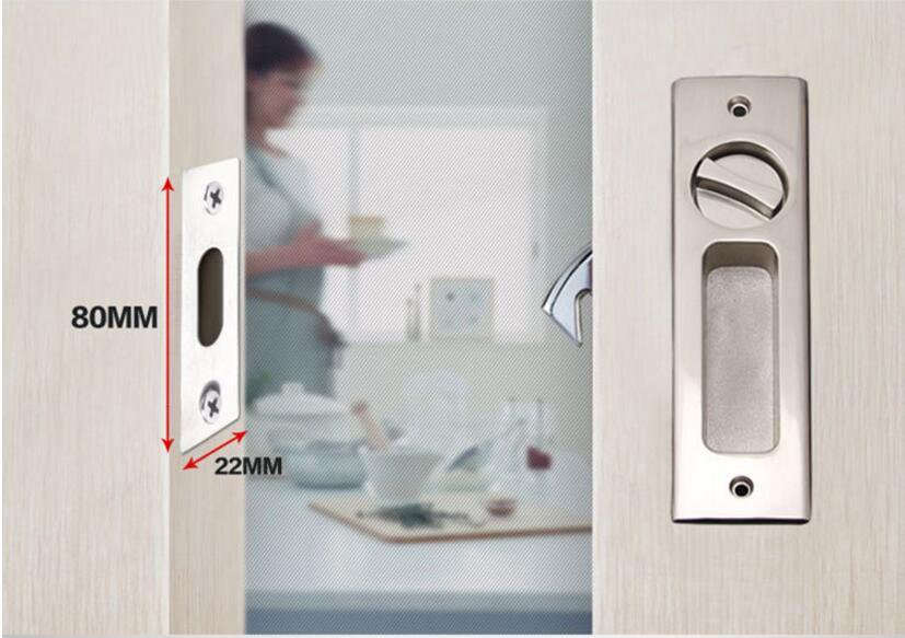 Sliding Door Lock Interior Bathroom And Lavatory Lock Hook Invisible Move  Door Lockset DL78 In Door Locks From Home Improvement On Aliexpress.com |  Alibaba ...