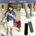 Детские Топ Мода Pure Color Детские Носки Мягкий Хлопок 100% Kawaii Мальчики Девочки Колено Длинные Носки детские Гетры Высокая носки