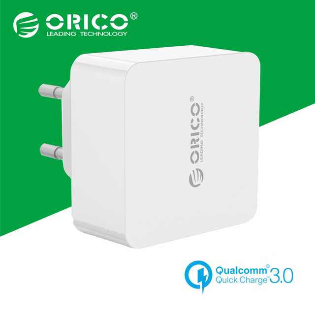ORICO 1 Port Travel Wall Charger With Qualcomm Quick Charge 3.0 with 1m Free Micro USB Cable EU/US/UK Type Plug-White(QTW-1U)