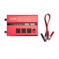 Dual USB 3000 Вт DC 12 В к AC 110 В/220 В Портативный автомобиля Мощность инвертор Зарядное устройство адаптер конвертер