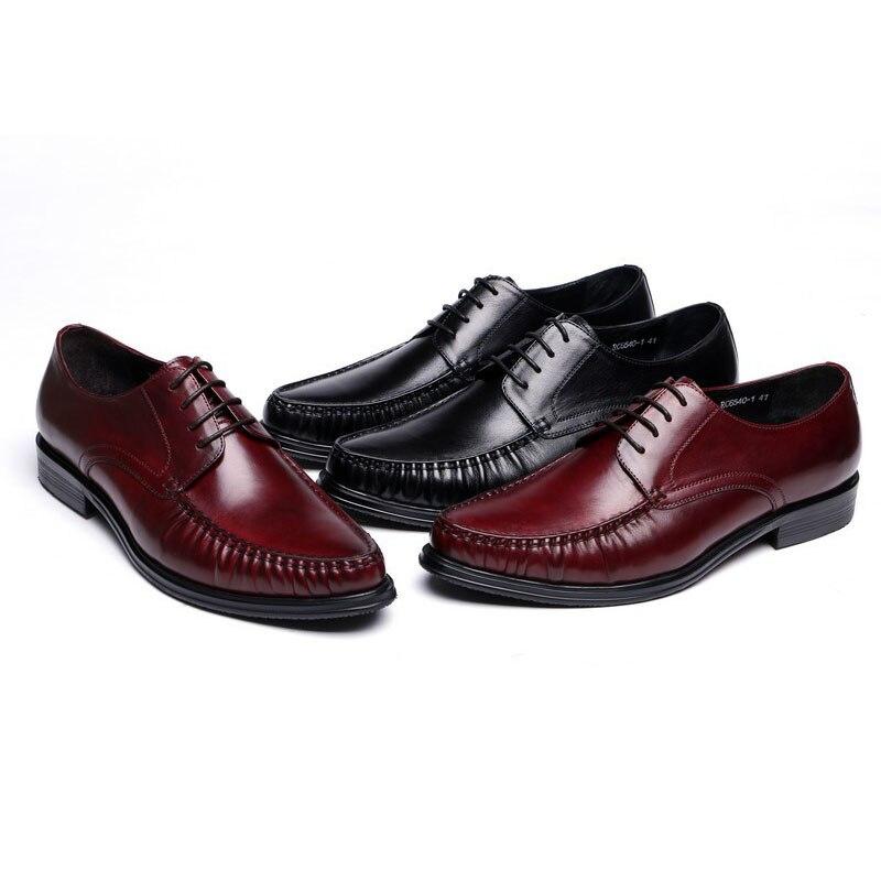 Homens Homens Shoesmen Dos Vestem Qualidade Couro De Sapatos Flats Genuíno Negócios Lace up Sapatas Alta Negros Se Terno Moda AOg11pxf