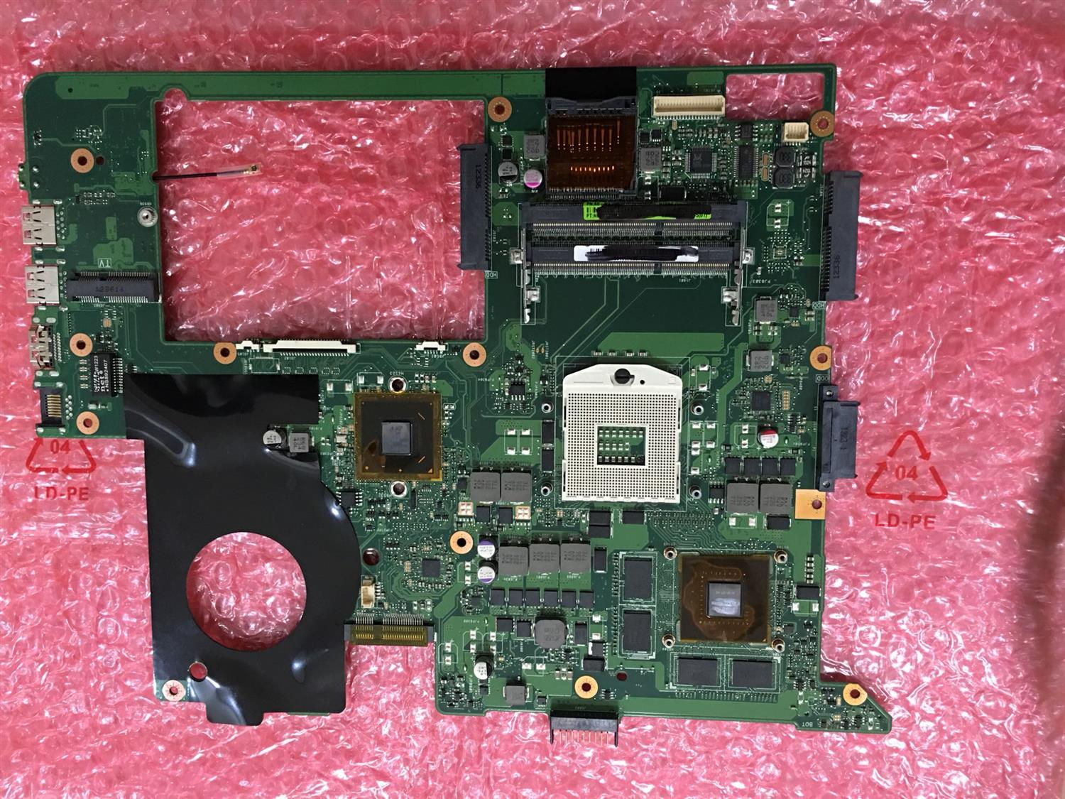 Used,N76V REV 2.2 suitable for asus N76V N76VZ N76VJ N76VB N76VM laptop motherboard for asus n76vj n76vb n76vz n76vm n76v rev 2 0 laptop motherboard 2gb usb3 0 n14p ge op a2 gt740m fully tested