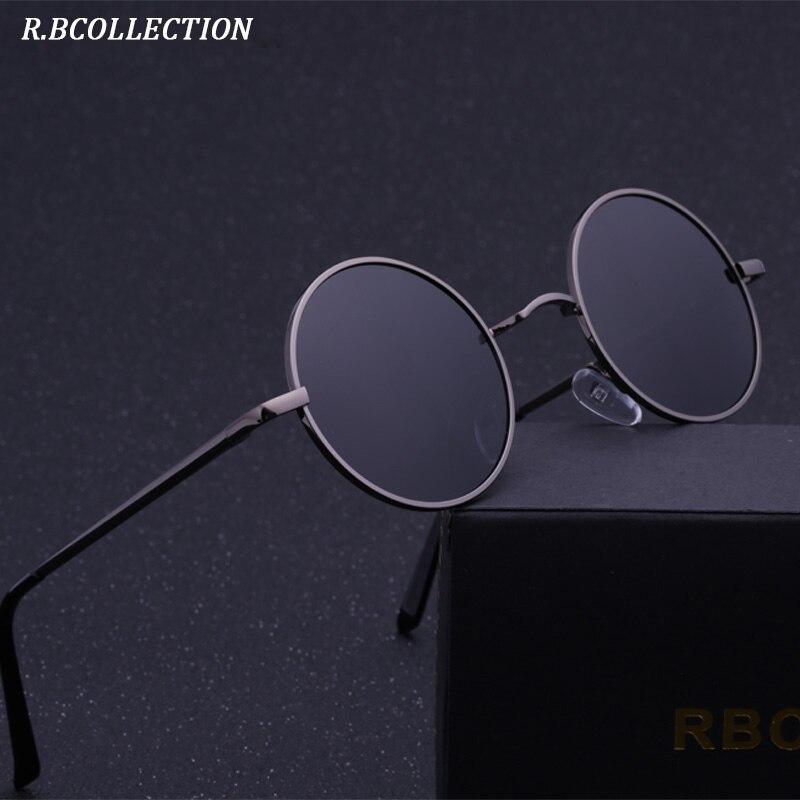 R. BCOLLECTION Steampunk Runde Sonnenbrille Männer Frauen Anti-Uv Polarisierte Metall Rahmen Retro Sonnenbrille Spiegel gafas de sol 801