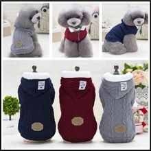 Pet Dog Woolen Sweater Puppy Knitwear Clothes Hoodie Winter Warm Turtleneck Cat Apparel