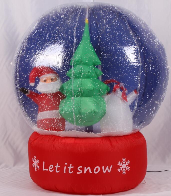 2017 Vioslite 1.2M Inflatable Christmas Snow Ball in High Quality for Festival Decoration 3m diameter empty inflatable snow ball for advertisement christmas decorations giant inflatable snow globe