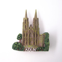 Hohe Domkirche St. Peter und Maria Cologne Cathedral Church Germany Country Handmade Resin Fridge Magnet Magnetic Sticker Craft