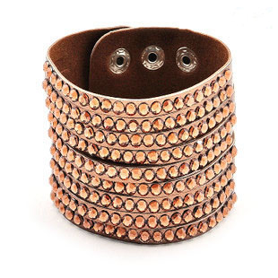 Wholesale 2015 Fashion Wrap Cuff Leather Bracelet Rhinestones Bangle Bracelets for Women S112