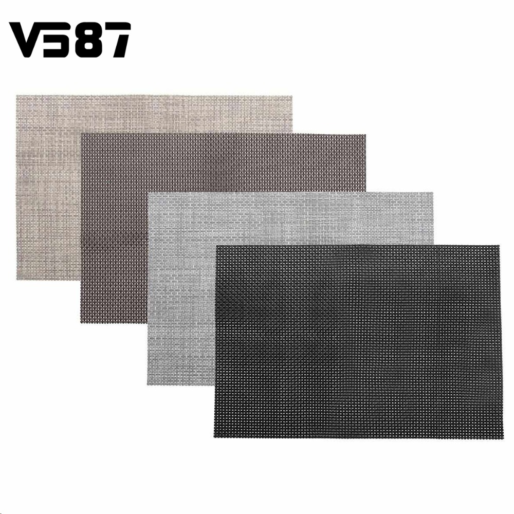 Pvc Waterproof Placemats Pads Woven Heat Insulation Table Mat Coasters Home  Kitchen Dining Table Decorative Crafts
