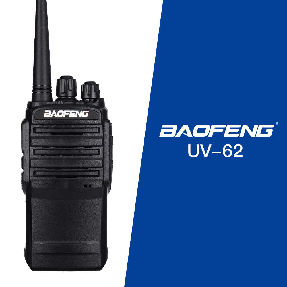 De BaoFeng UV-62 Walkie Talkie portátil PTT Radio 5W 128CH UHF DTMF VOX Tono de 1750Hz FM VOX 1800mAh UV62 CB radio Interphone