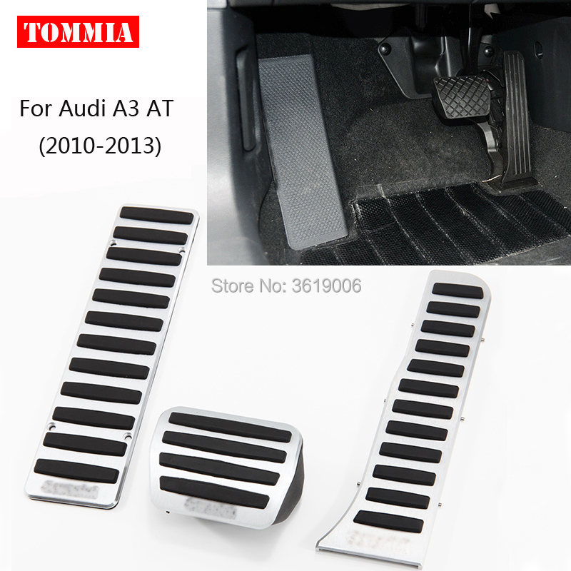 tommia For <font><b>Audi</b></font> <font><b>A3</b></font> AT 2010-2013 <font><b>Pedal</b></font> Cover Fuel Gas Brake Foot Rest Housing No Drilling Car-styling image