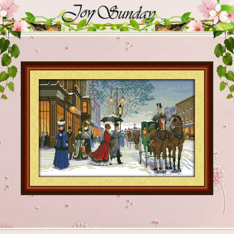 Twilight in Buitenland geteld Cross Stitch 11CT 14CT Kruissteek Sets Groothandel kruissteek Kits Borduren Handwerken