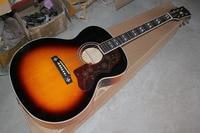 Free shipping wholesale High Quality sj200 Vintage Sunburst Acoustic Guitar 14 11 10