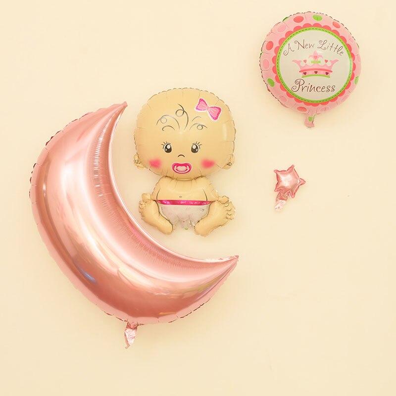 4 шт. для новорожденных Фольга Шарики Moon Star День рождения надувной воздушный баллон украшения дома может быть использована повторно дети Но…