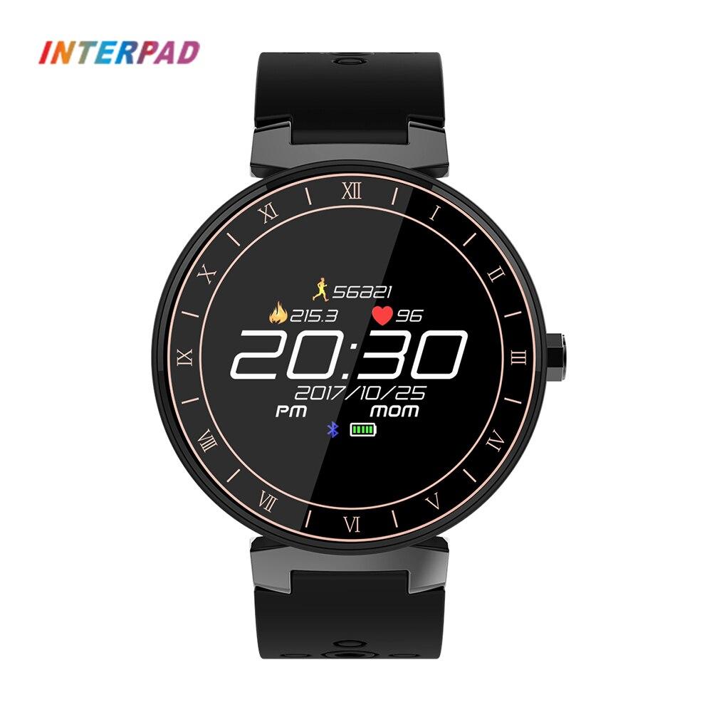 Interpad Спорт Smart Watch IP68 водостойкий цветной сенсорный экран Smartwatch поддержка кровяного давления крови кислородом пульсометр